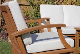 Sunbrella Outdoor Cushion Deep Seat Teak Set U2013 4 Seat Including Full Sunbrella Cushions