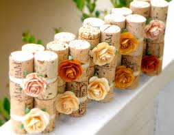 handmade wedding finds for unique weddings cork mini centerpieces