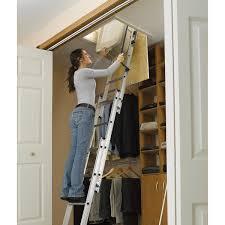 werner ladder aa1510 ladder aluminum attic 250 lb attic access