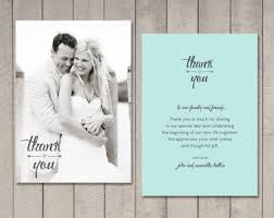 thank you photo cards wedding thank you cards etsy