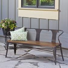 metal bench industrial wood urban vintage style indoor outdoor