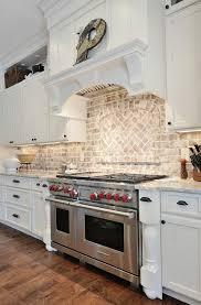 Backsplash For Kitchen With Granite Kitchen Astounding Kitchen With Brick Backsplash White Brick