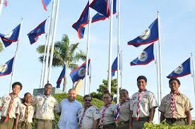 Belize Flag The Scout Association Of Belize