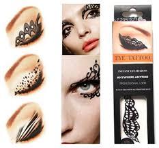 eye stickers fresh green styles butterfly pattern temporary