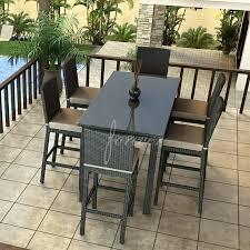 Cheap Bar Height Patio Furniture by Cheap 6 Person Patio Set 6 Person Patio Set Canada Wood Folding