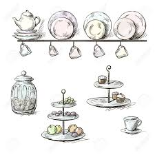 Kitchen Utensils Hand Drawn Illustration Of Kitchen Utensils Royalty Free Cliparts