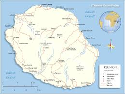 Mauritius Location In World Map political map of reunion nations online project
