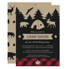 camping invitations u0026 announcements zazzle