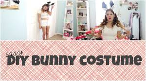 party city halloween bunny costume easy last minute diy halloween costume bunny youtube