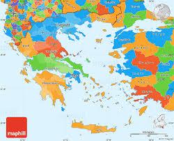 greece map political political simple map of greece