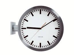 amazon com karlsson wall clock double sided aluminum home