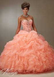 coral quince dress quinceanera dress vizcaya morilee 89075 ruched organza skirt with