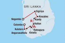 Sri Lanka Blank Map by Sri Lanka Hike Bike And Kayak Sri Lanka Tours Intrepid Travel Nz