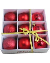 savings on 9pk 3 15 80mm ornaments