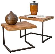 side table set of 2 blaine 2 piece nesting table set industrial side tables and end