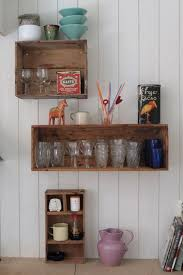 Wooden Crate Shelf Diy by 90 Best Wooden Crates Images On Pinterest Projects Crafts And Home