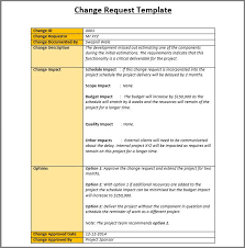 sample change request template my work pinterest template