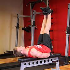 Leg Raise On Bench Workouts Fitness