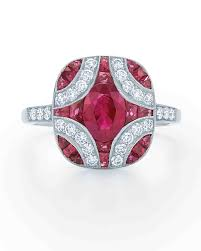 pink star diamond ring 34 royal ruby engagement rings martha stewart weddings