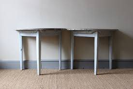 swedish painted demi lune console tables early 19th century