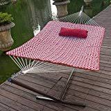 amazon com 2 person free standing hammock 13 ft sienna stripe