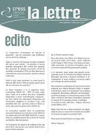 chambre r馮ionale de l 馗onomie sociale et solidaire la lettre de la cress lr by cress occitanie issuu