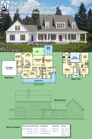 architecturaldesigns com plan 25609ge 4 bed modern farmhouse with front and rear porches