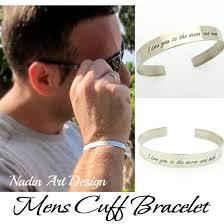 cuff silver bracelet men images Custom sterling silver cuff anniversary gift for men groomsmen jpg