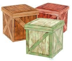 Wood Storage Ottoman Vintique Folding Storage Ottoman Wooden Crate Design Quickway