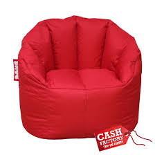snug bean bag chair red