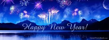 happy new year lake fireworks cover holidays