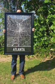 home and decor she makes cents modern atlanta city map print