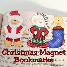christmas magnet bookmark diy and free printable everyday parties