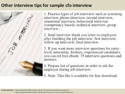 top 10 sample cfo interview questions and answers