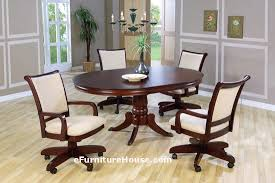kitchen table with caster chairs dining room chairs with casters oknws com