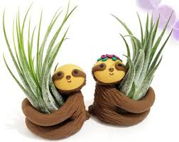 sloth air planter gift for her planter air planter womens