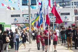 Canadian Provincial Flags Inspiration Village Opens To Celebrate Canada