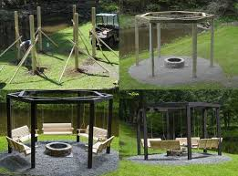 diy backyard pit diy backyard pit with swing seats