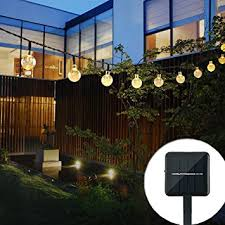 Outdoor Garland With Lights by Amazon Com Outdoor Solar String Light Garland 30led Fairy String