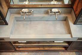 Industrial Bathroom Fixtures Da Concrete Sink And Custom Vanity Industrial Bathroom Other