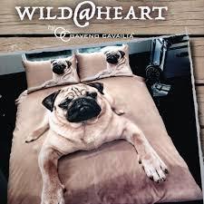 Dog Duvet Covers Pug Dog Duvet Quilt Cover Pug Dog 3d Print Bedding Set Pillowcases
