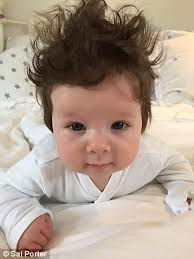 baby hair parents reveal their babies with heads of hair daily mail