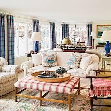 Coastal Colors Red White  Blue Coastal Living - Red and blue living room decor