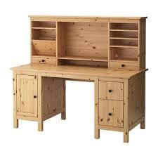 bureau ikea bois hemnes bureau avec élément complémentaire brun clair 155x137 cm ikea
