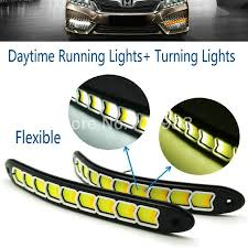 best led daytime running lights 10w 100 waterproof cob led daytime running lights turning signal
