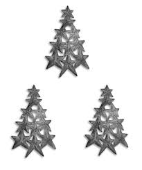 3 tree of ornaments haitian metal handmade