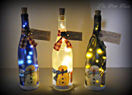 Wine Bottles With Lights Holiday Themed Lighted Bottles How To Make A Bottle Lamp