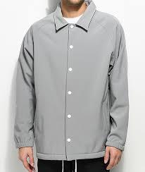 light grey dress shirt empyre walsh light grey tech fleece coaches jacket zumiez