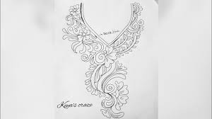 neck design drawing for hand embrodiary how to draw an easy