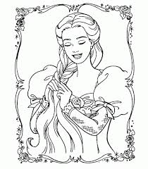 barbie rapunzel coloring pages free printable coloring pages